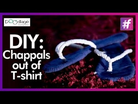 Easy DIY Tutorial | Put Your Old T-shirts To Make Trendy Chappals
