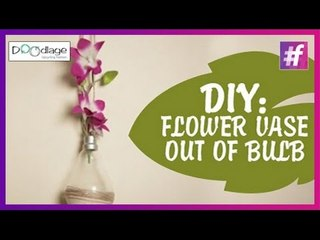 Easy DIY: Charismatic Flower Vase Out Of Bulb