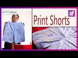 DIY : How To Make Stencil Print Shorts