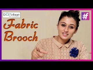 Easy DIY Tutorial   Fabric Brooch   Best Out of Waste