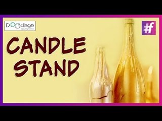 Easy DIY   How to Make a Candle Stand Out of Bottle