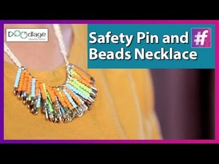 Easy DIY Tutorial: Safety Pin and Beads Necklace   Best Out of Waste Ideas