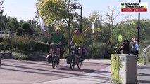 VIDEO. Vienne : ils bouclent leur tour du monde à vélo