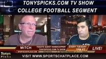 NFL Week 5 Free Picks College Football Week 6 Free Picks Predictions Previews Odds Tonys Picks TV Show 9-30-2014
