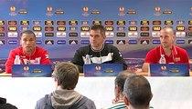 EAG-PAOK: la conférence de presse d'avant match de J.Gourvennec, L.Mathis et S.Marveaux