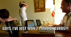 Dad Tells His Sons That He Won 15M Danish Krone (2.7 Million Dollars)