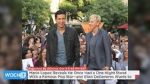 Mario Lopez Reveals He Once Had A One-Night Stand With A Famous Pop Star--and Ellen DeGeneres Wants To Find Out Who!