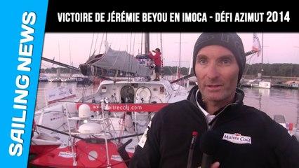 Victoire de Jérémie Beyou  sur le Trophée Azimut 2014 en classe Imoca