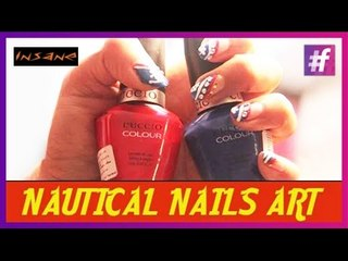 Nautical Nails Art | Nail Art Tutorial