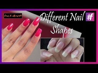 5 Different Nail Shapes | DIY Nail Shapes