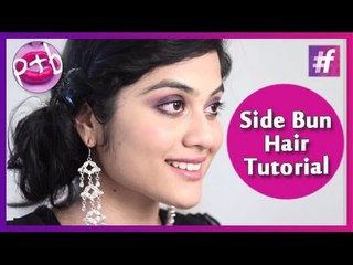 Super Easy Messy Side Bun Tutorial -Indian