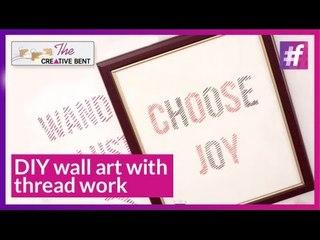 DIY: Wall Art with Thread Work