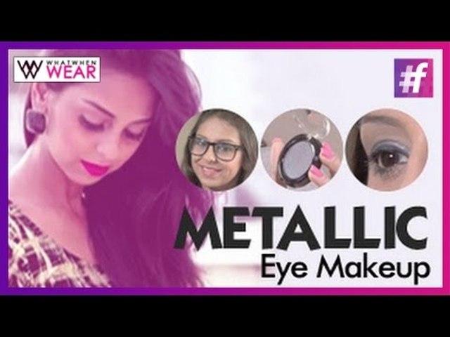 Eye Makeup for Girls Who Wear Glasses | Metallic Eye Makeup Tutorial