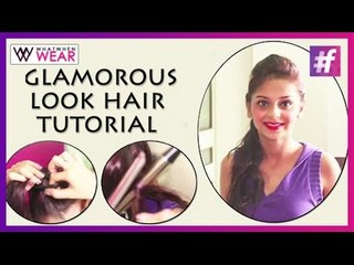 Glamourous Updo | Curls With Ponytail | Hair Tutorial