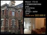 Maison à vendre de 175 m2 avec 5 chambres, jardin, garage,atelier à Valenciennes dans le Nord pas de Calais située dans le secteur piscine proche centre de la ville. Cette habitation bourgeoise, avec hall, salon, séjour, salle à manger, cuisine équipée