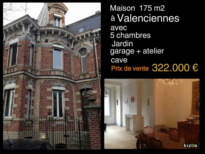 Maison à vendre de 175 m2 avec 5 chambres, jardin, garage,atelier à Valenciennes dans le Nord pas de