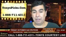 Tonys Picks TV Sports Handicapping TV Show Free College Football Picks Previews Odds 10-1-2014