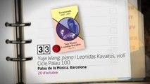 TV3 - 33 recomana - Yuja Wang i Leonidas Kavakos. Cicle Palau 100. Palau de la Música. Barcelona