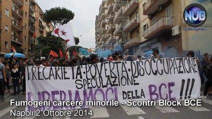 #BlockBCE Napoli - Fumogeni Carcere Minorile