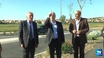Le Président de Carcassonne Agglo en visite avec les élus de la ville sur les voiries de l'hôpital et au Païcherou.