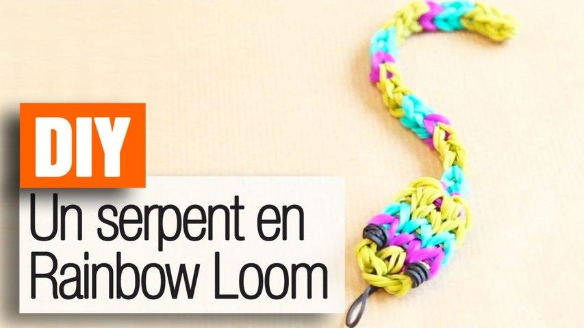 Faire un serpent en élastiques Rainbow Loom - Tuto DIY