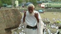 Pélerinage de la Mecque: prières au Mont Arafat