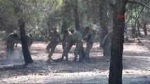 Orman Yangınını Asker ve İtfaiye Söndürdü