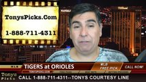 MLB Free Pick Game 2 Baltimore Orioles vs. Detroit Tigers ALDS Odds Prediction Preview 10-3-2014