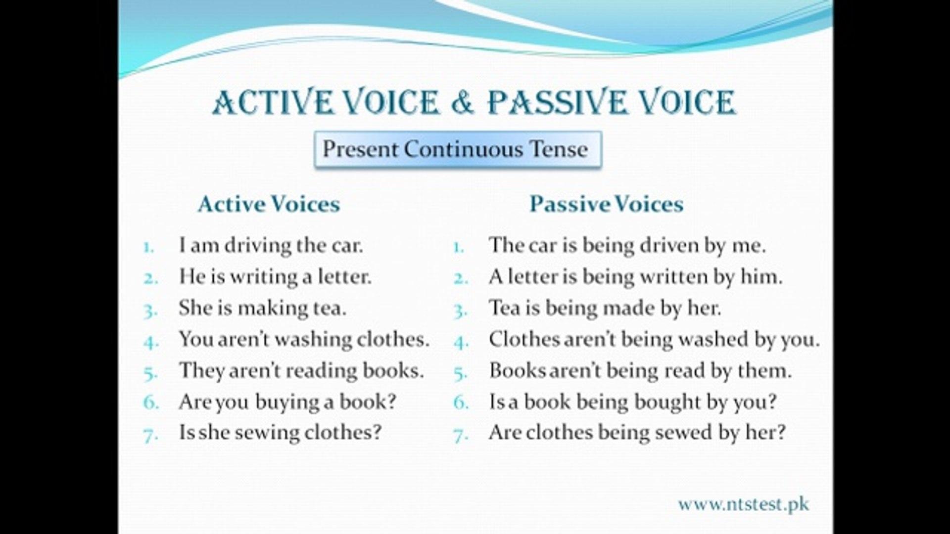 Present-Continuous-Passive-Voice