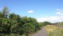 27 juillet 2014 - Aéroport de Manchester, trente kilomètres à pied !