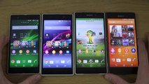 Sony Xperia Z3 vs. Sony Xperia Z2 vs. Sony Xperia Z1 vs. Sony Xperia Z - Which Is Faster  (4K)