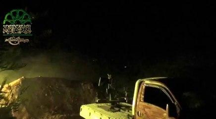 #جيش_الإسلام   التمهيد بالمضادات قبل اقتحام حاجزي #تل_ملح و جبين في ريف #حماة