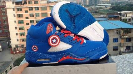 plato Sábana Lírico  sportsytb.cn * Air Jordan 5 Marvel Captain America Custom─影片Dailymotion