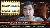 MLB Playoff Odds St Louis Cardinals vs. LA Dodgers Game 3 NLDS Free Pick Prediction Preview 10-6-2014