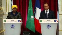 Déclaration conjointe à l'issu de l'entretien avec Mme Nkosazana DLAMINI-ZUMA, Présidente de la Commission de l'Union africaine