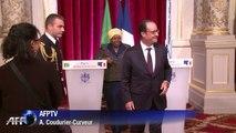 Hollande reçoit la présidente de la commission de l'UA