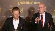 Nuit du Rugby 2014 - Meilleur Staff TOP 14 : Rugby Club Toulonnais et Trophée d'honneur : Bernard Laporte, Jonny Wilkinson