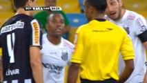 Brasil- Robinho marca dos goles antes de ser expulsado