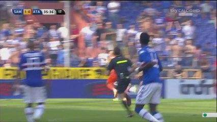 Il goal di Manolo Gabbiadini in Sampdoria-Atalanta 1-0 (05/10/2014)