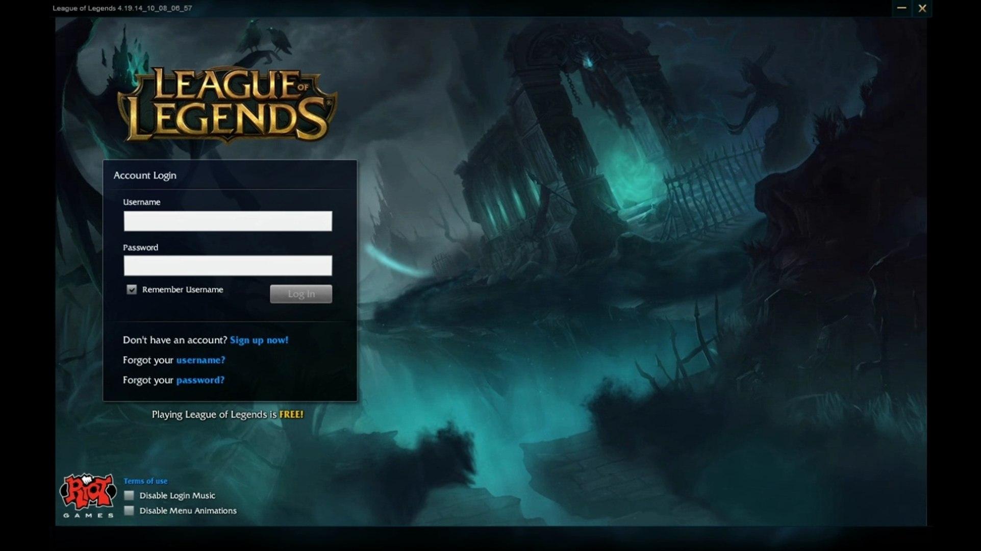 Halloween Login Screen - League of Legends