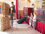 La préparation de l'exposition pour le festival d'art contemporain de Saint Florent sur Auzonnet