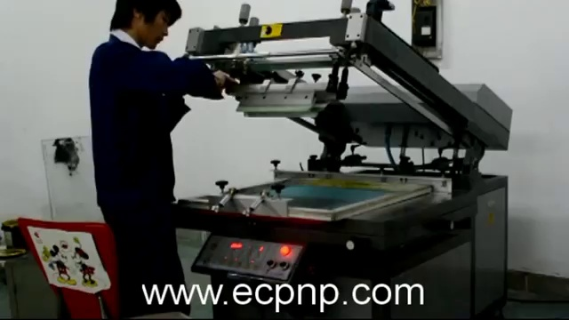 Tilted-arm Flat Bed Screen Printing Machine