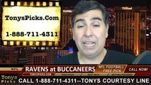Tampa Bay Buccaneers vs. Baltimore Ravens Free Pick Prediction NFL Pro Football Odds Preview 10-12-2014