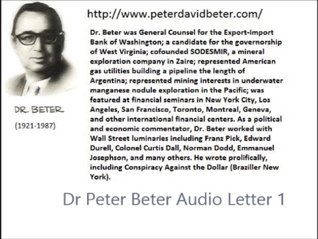 Dr Peter Beter Audio Letter 1 - June 21, 1975 - The Fort Knox Gold Scandal; President Ford, Economic Depression and Dictatorship in America; Nelson Aldrich Rockefeller