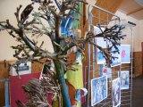 L'exposition des travaux des enfants, festival d'art contemporain de Saint Florent sur Auzonnet