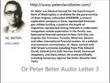Dr. Peter Beter Audio Letter 3 - August 21, 1975 - The Truth about the Assassination of President John F. Kennedy; Examples of Economic Power Held by the Rockefellers; Rockefeller Plans for World War III