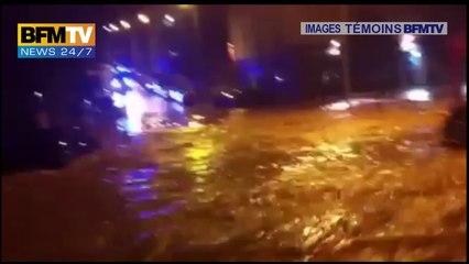Témoins BFMTV : Torrents dans les rues de Montpellier Nord