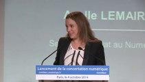 Lancement de la concertation numérique - Axelle Lemaire