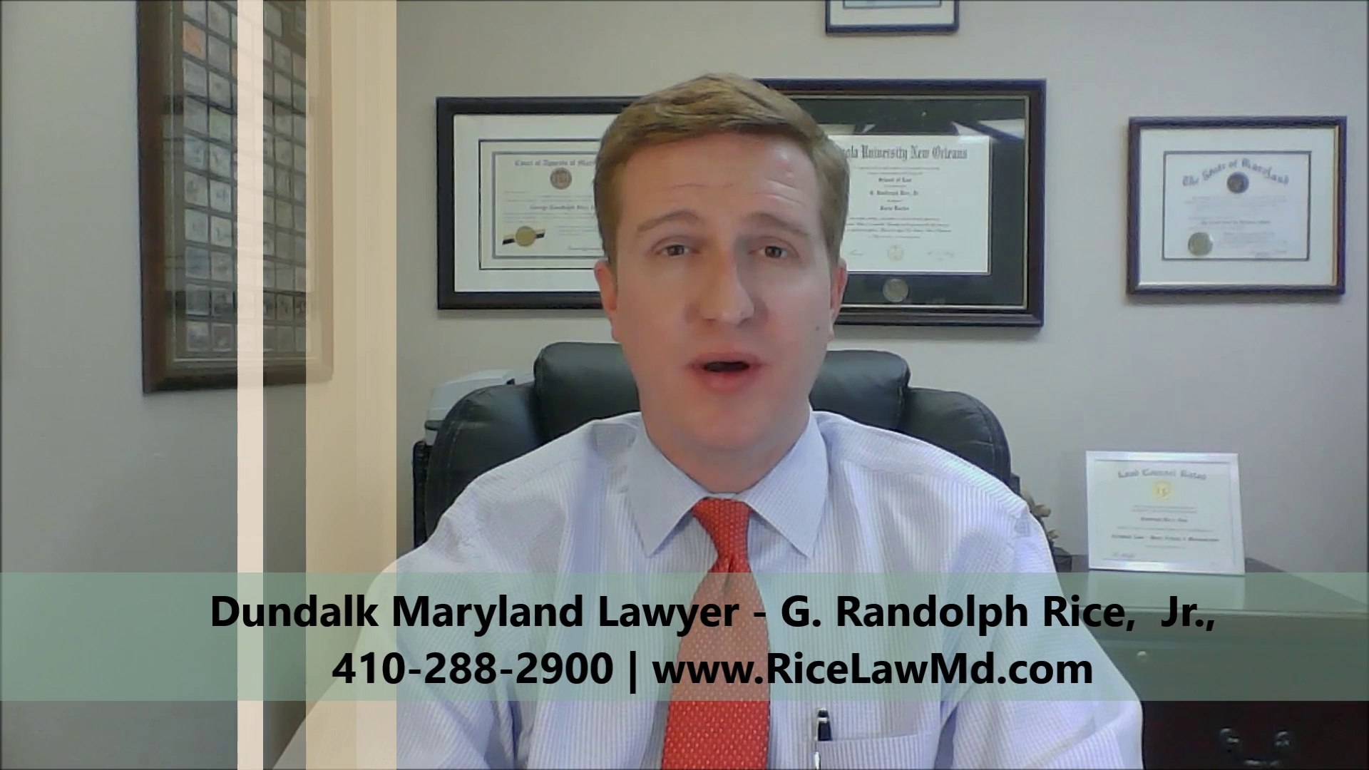 Dundalk Maryland Lawyer G. Randolph Rice Jr.
