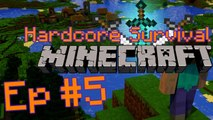 Minecraft Hardcore Survival EP 5 - Exploring things, and not dying :D